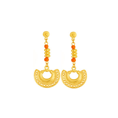 Aretes precolombinos largos - Hanging precolumbian earrings