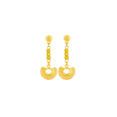 Aretes precolombinos largos - Dangling precolumbian earrings