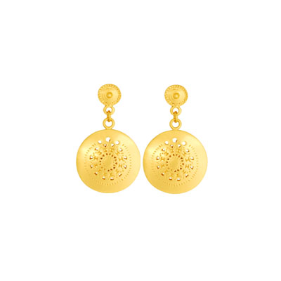 Aretes de colgar redondos - Precolumbian round dangling earrings