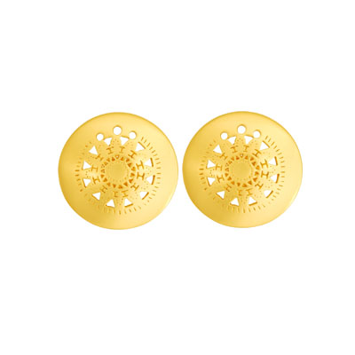 Topos medianos redondos - Round medium sized studd earrings