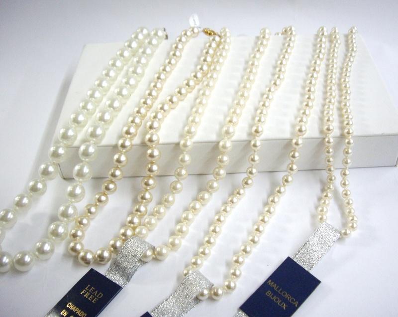 Collares de perlas - Pearl necklaces